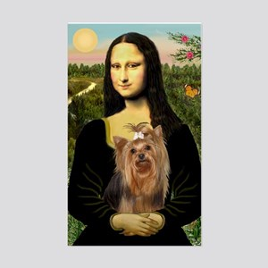 Mona Lisa & Yorkie #7 Rectangle Sticker