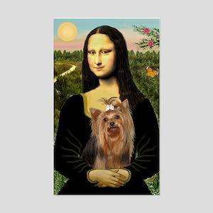 Mona Lisa & Yorkie #7 Rectangle Sticker