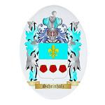 Scheinholz Oval Ornament