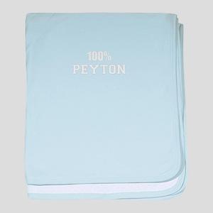 100% PEYTON baby blanket