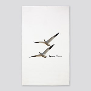 Snow Geese in Flight Area Rug