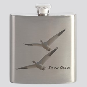 Snow Geese in Flight Flask