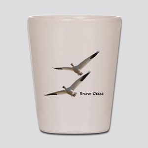 Snow Geese in Flight Shot Glass
