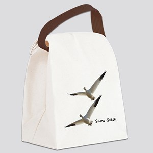 Snow Geese in Flight Canvas Lunch Bag