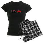 I Love Tow Trucks Women's Dark Pajamas