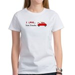 I Love Tow Trucks Women's T-Shirt