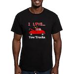 I Love Tow Trucks Men's Fitted T-Shirt (dark)