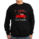 I Love Tow Trucks Sweatshirt (dark)