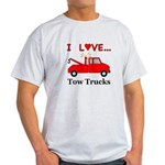 I Love Tow Trucks Light T-Shirt