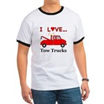 I Love Tow Trucks Ringer T