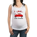 I Love Tow Trucks Maternity Tank Top