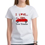 I Love Tow Trucks Women's T-Shirt