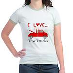 I Love Tow Trucks Jr. Ringer T-Shirt