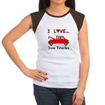 I Love Tow Trucks Junior's Cap Sleeve T-Shirt