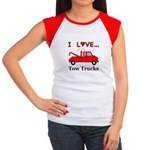 I Love Tow Trucks Junior's Cap Sleeve T-Shirt