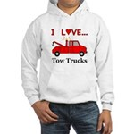 I Love Tow Trucks Hooded Sweatshirt
