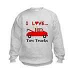 I Love Tow Trucks Kids Sweatshirt
