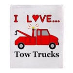 I Love Tow Trucks Throw Blanket