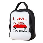 I Love Tow Trucks Neoprene Lunch Bag