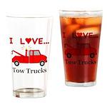I Love Tow Trucks Drinking Glass