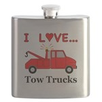 I Love Tow Trucks Flask