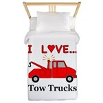I Love Tow Trucks Twin Duvet