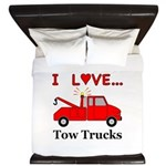 I Love Tow Trucks King Duvet