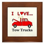 I Love Tow Trucks Framed Tile