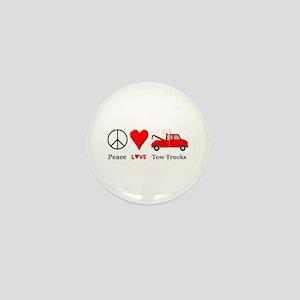 Peace Love Tow Trucks Mini Button
