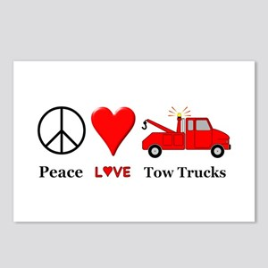 Peace Love Tow Trucks Postcards (Package of 8)