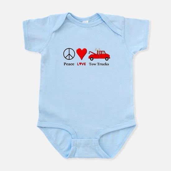 Peace Love Tow Trucks Infant Bodysuit