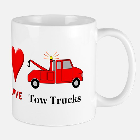 Peace Love Tow Trucks Mug