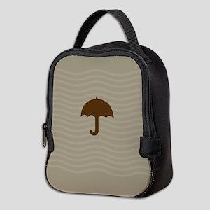 Chocolate Umbrella Waves Neoprene Lunch Bag