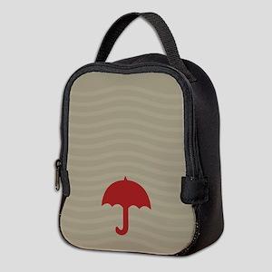 Red Umbrella Waves Fall Winter Neoprene Lunch Bag