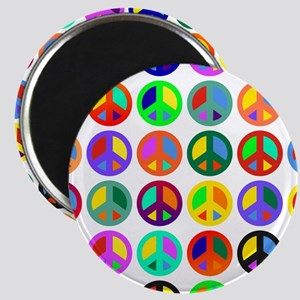 Peace Signs-colorful Magnet