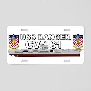 USS Ranger CV-61 Aluminum License Plate