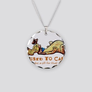 I Used to Care Necklace Circle Charm