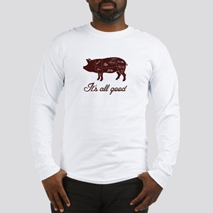 It's All Good Pig Pork Meat Map Long Sleeve T-Shir