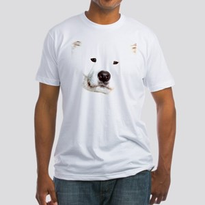 Samoyed Face Fitted T-Shirt