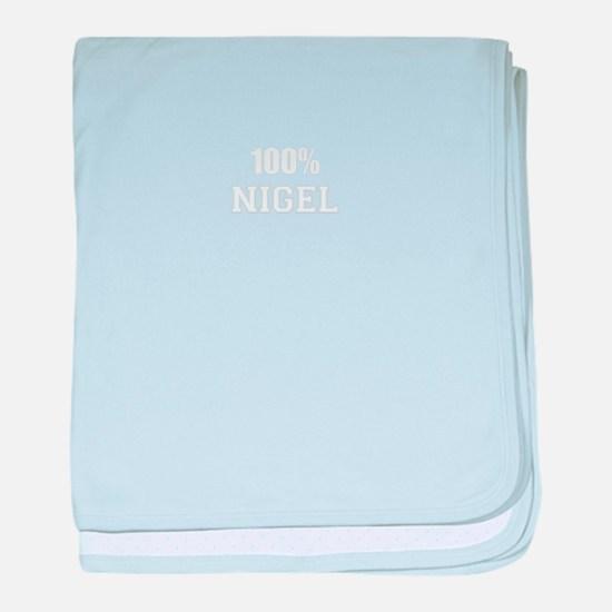 100% NIGEL baby blanket