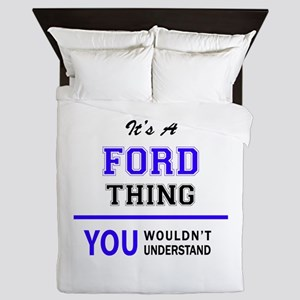 FORD thing, you wouldn't understand! Queen Duvet