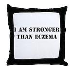 I am Stronger than Eczema Throw Pillow