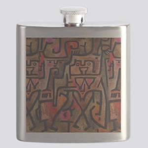 Paul Klee Abstract Red Contemporary Flask