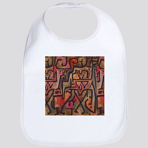Paul Klee Abstract Red Contemporary Bib