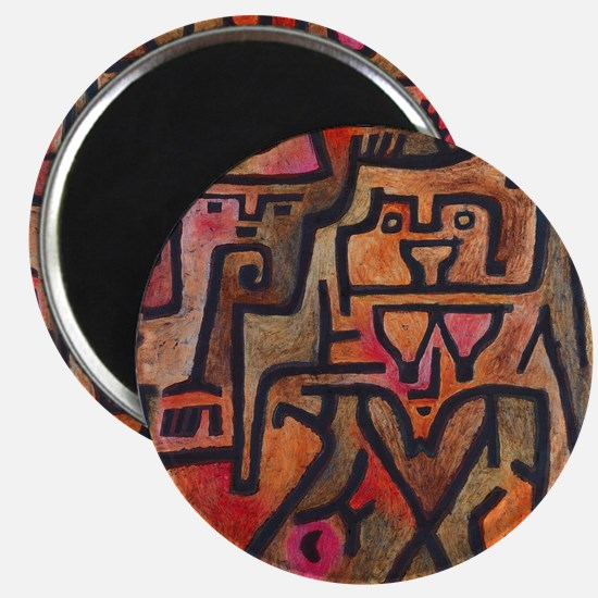 Paul Klee Abstract Red Contemporary Magnets