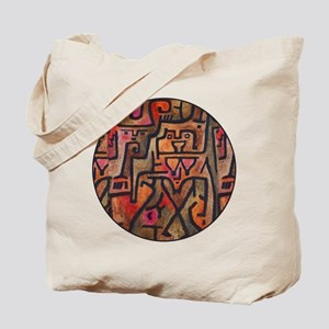 Paul Klee Red Nature Abstract Forest Tote Bag