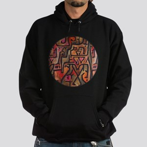 Paul Klee Red Nature Abstract Forest Hoodie