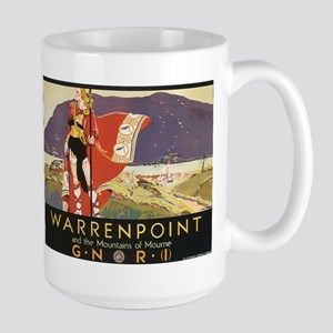 Vintage Warrenpoint Travel Po Large Mug