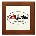 GrillJunkie Logo Framed Tile
