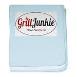GrillJunkie Logo baby blanket